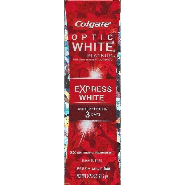 Colgate Optic White Express White Travel Size Toothpaste 0
