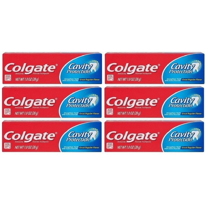Colgate-Cavity-Protection-Anticavity-Fluoride-Travel-Size-Toothpaste-6-tubes-362393881691