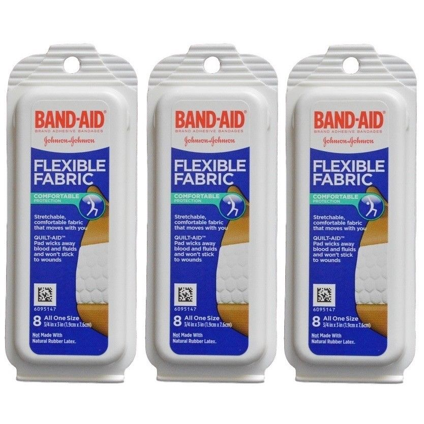 Johnson-Johnson-Flexible-Fabric-Band-Aids-Travel-Size-Pack-3-or-6-Packs-362393863841