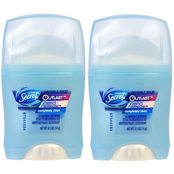 Secret Outlast Completely Clean Deodorant 0 5 Ounce Travel Size (2 Pack)