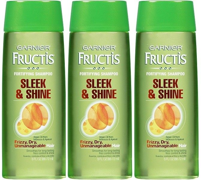 Variation-of-Garnier-Fructis-Sleek-amp-Shine-Travel-Size-Shampoo-w-Argan-Oil-Strengthens-Hair-362393872066-24dc