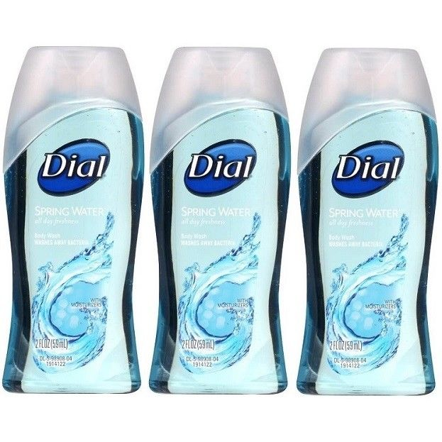Dial-Spring-Water-Hydrating-Body-Wash-Travel-Size-2-ounce-3-or-6-Bottles-362393889478
